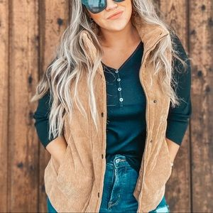 Tan Corduroy Vest Perfect just wore for photo